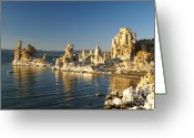 Rock Formations Greeting Cards - Mono Lake California Greeting Card by Alex Cassels
