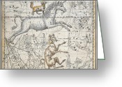 Constellations Greeting Cards - Monoceros Greeting Card by A Jamieson