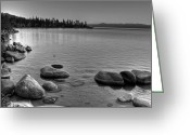 Nevada Greeting Cards - Monochrome Lake Tahoe Sunset Greeting Card by Scott McGuire