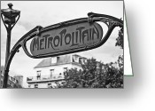 Georgia Fowler Greeting Cards - Monochrome Metropolitain  Greeting Card by Georgia Fowler