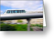 Metro Greeting Cards - Monorail carriage Greeting Card by Carlos Caetano
