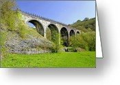 Hills Greeting Cards - Monsal Dale Viaduct Greeting Card by Rod Johnson