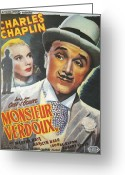 Motion Picture Greeting Cards - Monsieur Verdoux Greeting Card by Nomad Art and  Design