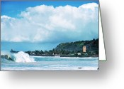 Waimea Greeting Cards - Monster Wave Waimea Bay Greeting Card by Thomas R Fletcher