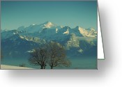 Snowcapped Greeting Cards - Mont Blanc Greeting Card by Lionel Albino