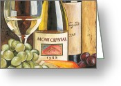 Wine Bottle Greeting Cards - Mont Crystal 1988 Greeting Card by Debbie DeWitt