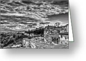 Brunello Greeting Cards - Montalcino 2 Greeting Card by Andreas Jancso