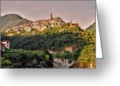 Europa Greeting Cards - Montalto Ligure - Italy Greeting Card by Juergen Weiss