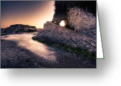 Matthew Trimble Greeting Cards - Montana de Oro after sunset Greeting Card by Matt  Trimble