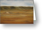 Cowboy Pastels Greeting Cards - Montana Landscapes I Greeting Card by Sabina Haas