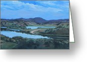 Blues And Greens Greeting Cards - Montana View Greeting Card by Dori Wine