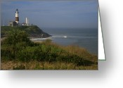 Lighthouse Greeting Cards - Montauk Point Greeting Card by Christopher Kirby