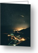 City Lights Greeting Cards - Monte Carlo Meteor Greeting Card by Don Dixon