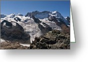 Alpine Panorama Greeting Cards - Monte Rosa - Matterhorn Greeting Card by Uta Philipp