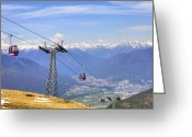 Mountain Peaks Greeting Cards - Monte Tamaro - Switzerland Greeting Card by Joana Kruse