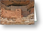 Ancient Ruins Greeting Cards - Montezuma Castle - Special in its own way Greeting Card by Christine Till