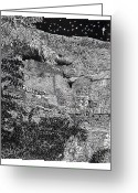 Cousins Greeting Cards - Montezuma Castle  Greeting Card by Jack Pumphrey