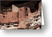 Native American Indians Greeting Cards - Montezuma Castle Greeting Card by John Rizzuto