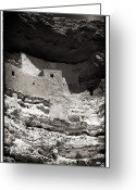 Native American Indians Greeting Cards - Montezuma Castle National Monument Greeting Card by John Rizzuto