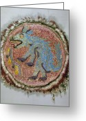 Mesoamerican Greeting Cards - Montezuma Ii: Shield Greeting Card by Granger