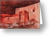 Actual Greeting Cards - Montezumas Castle Greeting Card by Sharon Mick