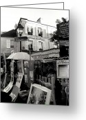Featured Artwork Prints Greeting Cards - Montmartre Greeting Card by Kathy Yates