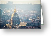 France Greeting Cards - Montmartre Sacre Coeur Greeting Card by By Corsu sur FLICKR