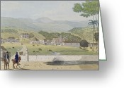 Central Painting Greeting Cards - Montpelier Estates - St James Greeting Card by James Hakewill