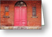 Foundations Greeting Cards - Montreal Street Photography Greeting Card by Reb Frost