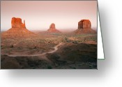Monument Valley Photo Greeting Cards - Monument Dusk Greeting Card by Mike  Dawson