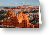 Thor Greeting Cards - Monument in Bryce Canyon Greeting Card by Pierre Leclerc