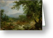 Hudson River School Greeting Cards - Monument Mountain - Berkshires Greeting Card by Asher Brown Durand