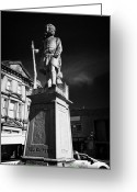 Cameron Greeting Cards - Monument To 79th Queens Own Cameron Highlanders Station Square Inverness Highland Scotland Uk Greeting Card by Joe Fox