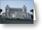 Latium Region Greeting Cards - Monument To King Victor Emmanuel Ii Greeting Card by Taylor S. Kennedy