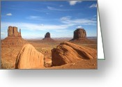 America Greeting Cards - Monument Valley Arizona - Mitten Buttes - Landscape Greeting Card by Peter Art Prints Posters Gallery