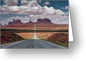 The Way Forward Greeting Cards - Monument Valley Greeting Card by BrusselsImages