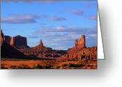 John Wayne Greeting Cards - Monument Valley Evening Greeting Card by Viktor Savchenko
