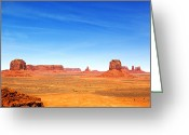 Navajo Greeting Cards - Monument Valley Landscape Greeting Card by Jane Rix
