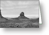 Black Mesa Greeting Cards - Monument Valley Greeting Card by Mike McGlothlen