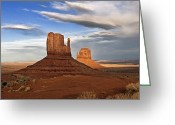 Monument Valley Photo Greeting Cards - Monument Valley Mittens Greeting Card by Peter Tellone