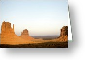 Monument Valley Photo Greeting Cards - Monument Valley Navajo Tribal Park Sunset Greeting Card by Bryant Scannell