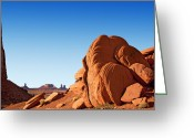 Navajo Greeting Cards - Monument Valley rocks Greeting Card by Jane Rix