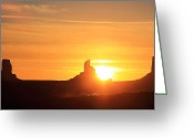 John Wayne Greeting Cards - Monument Valley Sunrise Greeting Card by Viktor Savchenko
