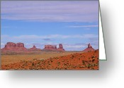 John Wayne Greeting Cards - Monument Valley Greeting Card by Viktor Savchenko