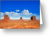 Navajo Greeting Cards - Monument Vally Buttes Greeting Card by Jane Rix