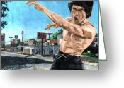Bruce Lee Greeting Cards - Moo Shu Jeet Kune Do Greeting Card by Thomas Weeks
