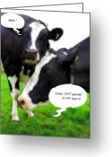 Joke Greeting Cards - Moo Greeting Card by Stefan Kuhn