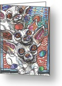 Chihuahua Greeting Cards - Moodswings Greeting Card by Robert Wolverton Jr