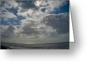 Grey Clouds Greeting Cards - Moody Monday Morning  Greeting Card by Bill Hale