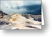 Natural Formations Greeting Cards - Moody Skies At Mammoth Greeting Card by Jan Amiss Photography